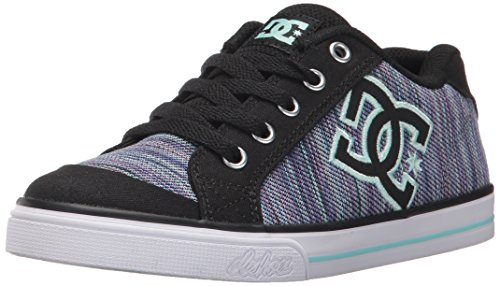 Purple Dc Shoes (DC Girls' Youth Chelsea SE Skate Shoes, Multi, 1 M US Little Kid)