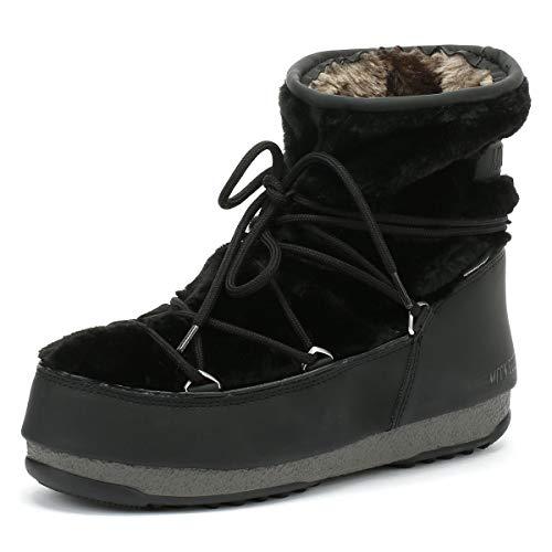 Donna Black Low Moon Boot Stivali Fur Nero Monaco 8wqwtxn0F