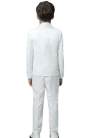 Icegrey Costume Garçon 5 Pièces Smoking Garçon d honneur Mariage Page Boy  Costume pour Communion Baptême Mariage Fête  Amazon.fr  Vêtements et  accessoires f9b63c1bfa4