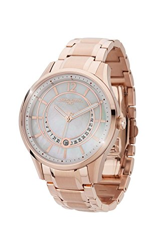 Jorg Gray | Womens Rose Gold Stainless Steel Band Watch | JG1400-14 | White w/Mother of Pearl Dial