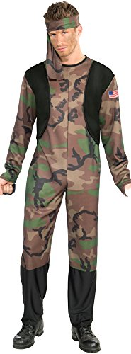 Forum Novelties Men's Army Soldier Costume, Multi, - Shoes American Soldier