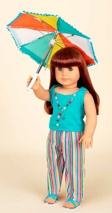 "Diana Collection Aqua Stripe Loungewear. Complete Outfit with Sandals. Fits 18"" Dolls like American Girl"