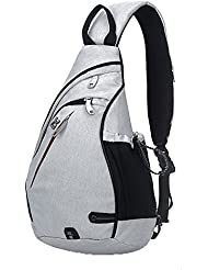 KARRESLY Canvas Sling Bag Chest Shoulder Unbalance Gym Triangle Packs Backpack Satchel Outdoor Bike