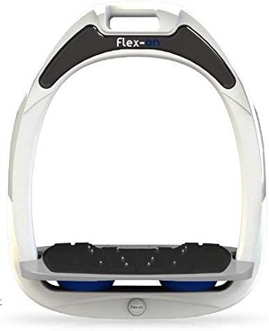 【Amazon.co.jp 限定】フレクソン(Flex-On) 鐙 ガンマセーフオン GAMME SAFE-ON Mixed ultra-grip フレームカラー: ホワイト フットベッドカラー: グレー エラストマー: ネイビー 05978