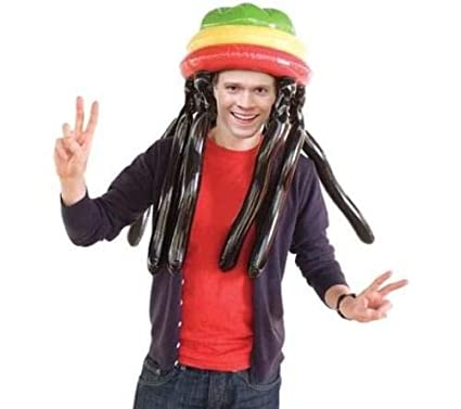 Bluw Giant Inflatable Rasta Hat Dreadlocks Halloween Costume
