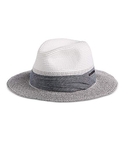 Sean John Mens Braided Fedora Trilby Hat White L/XL