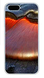 iPhone 5 5S Case nature lava PC Custom iPhone 5 5S Case Cover White