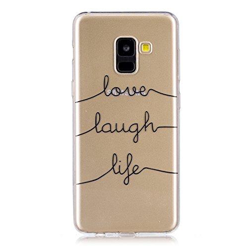 Cover para Samsung Galaxy A8 Plus 2018 / SM-A730 , WenJie Transparente Accesorios Regalo TPU Regalo elegante y duradero suave Silicona Suave Funda Case Tapa Caso Parachoques Carcasa Cubierta para Sams