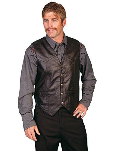 Scully Men's Leather Vest Black XXX-Large ()