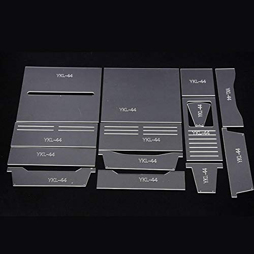 Acrylic Pattern Stencil Template Handmade Leather Craft Tool DIY Acrylic Stencil Set For Long Wallet