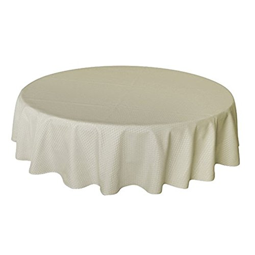Plaid Beige Tablecloth Round 70 Inch, Modern Waffle Check Table Cloths For  Parties Or Kitchen Tables