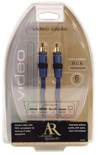 Acoustic Research 6 foot Video RCA Cable AP001 (Discontinued by Manufacturer) by Acoustic Research