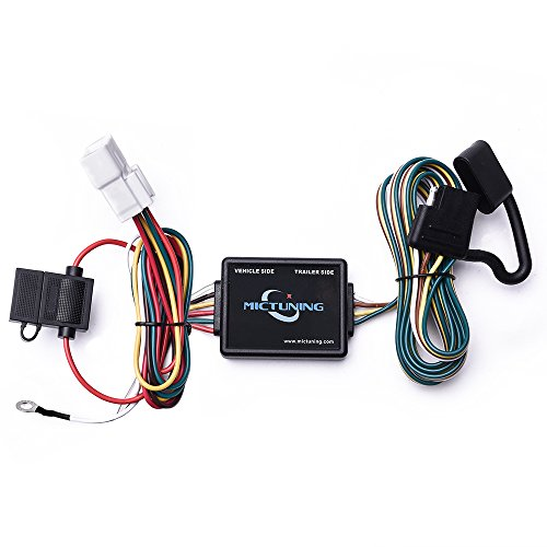 MICTUNING 7ft Trailer Wiring Harness with 4-Pin Flat ... on