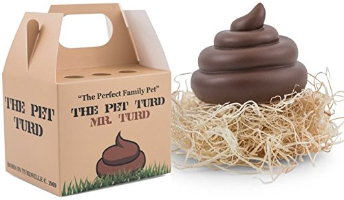 Mr. Turd - The Patriarch of The Pet Turd Family Includes a Brown Emoji Poop Toy, Custom Turd Travel Box and Nest