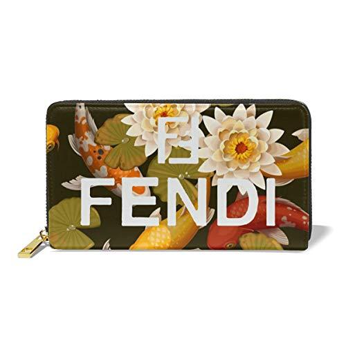 (Elegant Women Zip Around Wallet Phone Clutch Long Wallet Coin Purse)