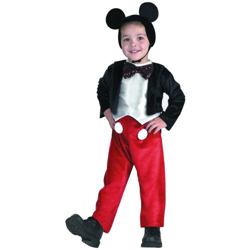 For Mickey Mouse Kids Costumes (Diguise Mickey Mouse Deluxe - Size:)