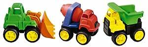 Kidoozie Little Tuffies Trucks 3 Piece Construction Vehicle Set