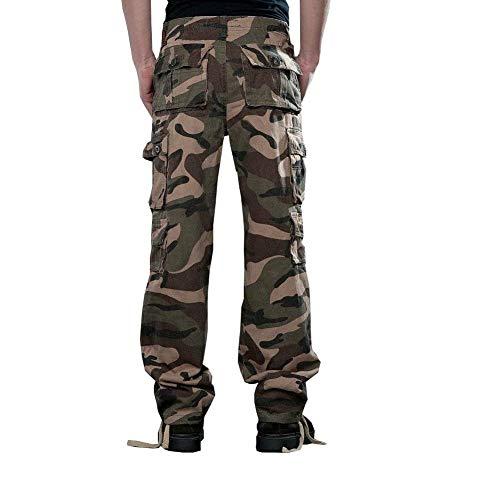 Jogging Mimetici Cargo Da Uomo Cacatua Camouflage02 Loose niente Pantaloni Casual Rilassati Combattimento Militari Huixin Fit Skinny Lavoro 7qf6Swt