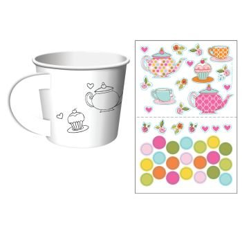 Tea Time Tea Party Decorate Your Own Favor Cups (6 (Tea Party Games)