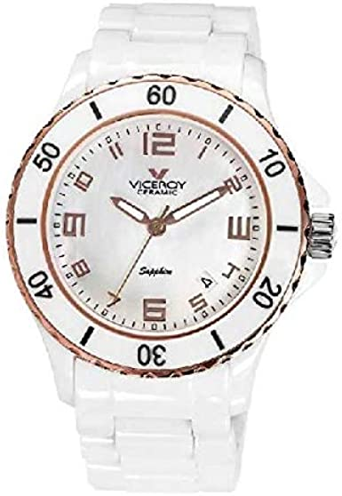 Reloj Viceroy Ceramica Y Zafiro 46644-95 Mujer Blanco