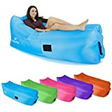 Cozyful Indoor or Outdoor Inflatable Air Lounger | Portable Airbag Chair & Waterproof Comfy Bag Couch | Sturdy Ripstop Nylon Fabric, Great Air Sofa for any Event when Using This Lounge Chair Lay Bag Hammock