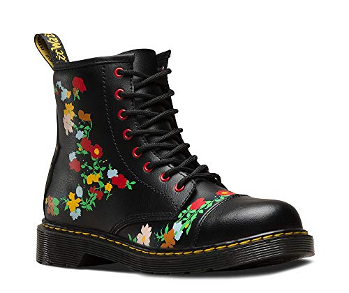 Dr. Martens Kid's Collection Girl's 1460 Pooch Flower (Big Kid) Black Multi T Lamper 5 M UK -