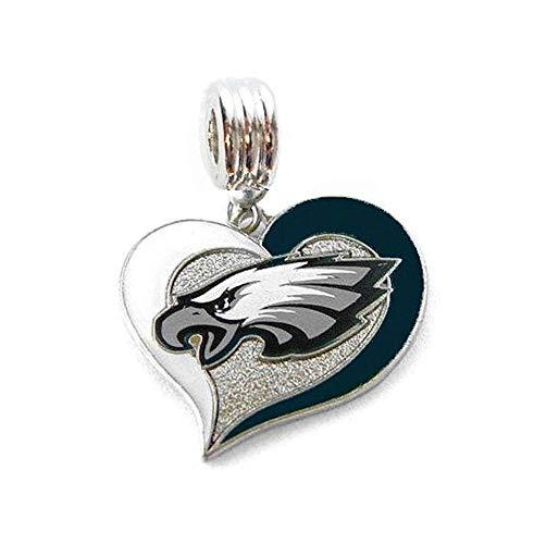Philadelphia Eagles Charm - Heavens Jewelry Philadelphia Eagles Football Team Charm Slide Pendant Your Necklace European Charm Bracelet (Fits Most Name Brands) DIY Projects ETC