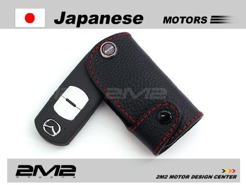 LMA02-5-A Leather key fob holder case chain cover For MAZDA2 MAZDA3 MAZDA5 MAZDA6 SPORTS MX-5 MIATA HARD TOP MAZDASPEED3 CX-9 CX-5