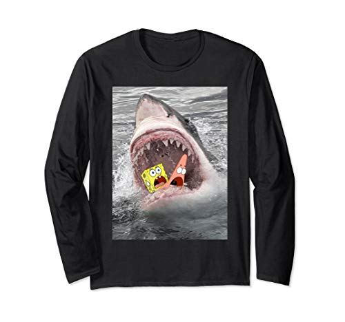 - Spongebob & Patrick Inside Shark Mouth Long Sleeve T-Shirt