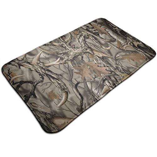 Ruwoi6 Realtree Camo Duty Doormat, Indoor Outdoor, Waterproof, Easy Clean, Low-Profile Mats for Entry, Garage, Patio, High Traffic ()