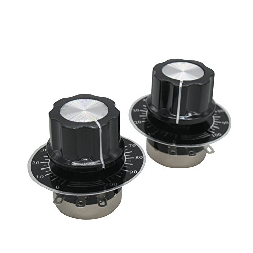 - TWTADE/2pcs rv24yn20s b103 10k ohm Single Turn Rotary Carbon Linear Variable Potentiometer,Used for Inverter Speed Regulation. Motor Speed Control + 2pcs A03 knob + 2pcs dials
