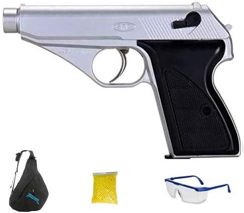 SRC GGH-0402 SILVER (Gas - Pistola de Airsoft Calibre 6mm (Arma Aire Suave de Bolas de plástico o PVC). Sistema: Gas <3,5J