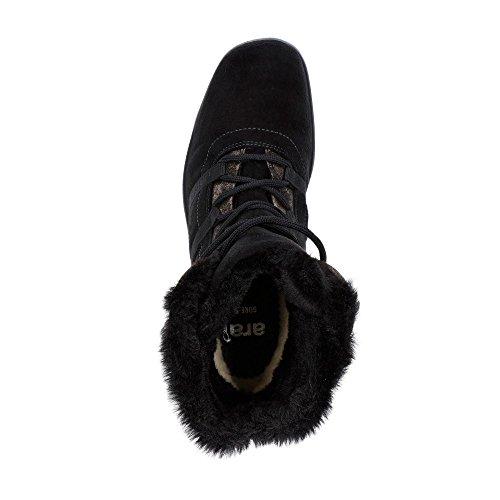 12-48523-95 Damen Gore-Tex® Boots Aus Velourslederimitat Textilinnenfutter Schwarz