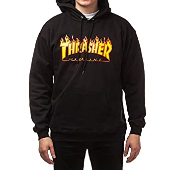 147c8538d80a Image Unavailable. Image not available for. Color  Thrasher Flame Logo  Hooded Sweatshirt ...