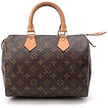 Women's Authentic Louis Vuitton Speedy 25 Brown Monogram Travel Bag