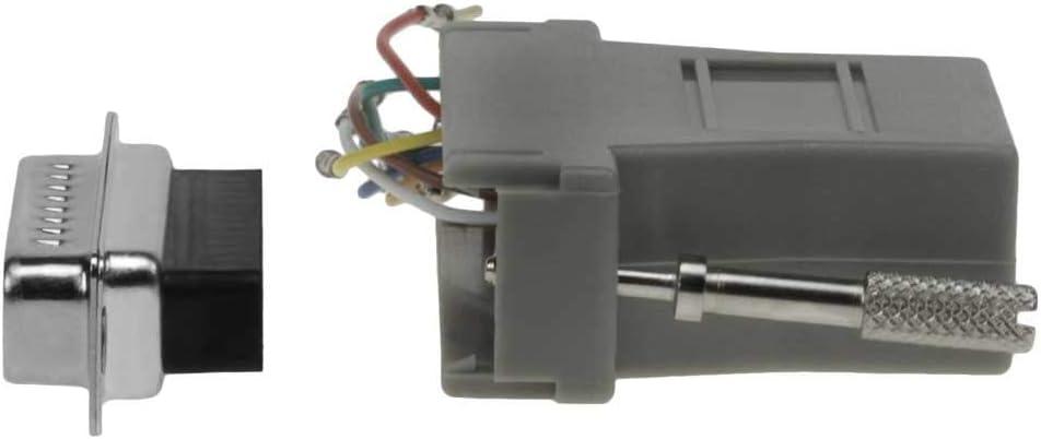 DB25 Male to RJ45 Modular Adapter Grey