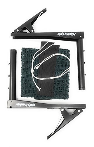 "Steel Tennis Posts (MightySpin Premium Clipper Net Set - Ping Pong 72"" Replacement Post Set - Portable Table Tennis Net Accessory for Indoor/Outdoor  Black)"