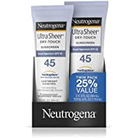 Neutrogena Ultra Sheer Dry-Touch Sunscreen, Broad Spectrum Spf 45, 3 Fl. Oz, Pack Of 2
