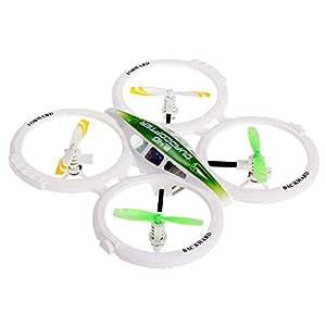 RC 2.4G Quadcopter Helicóptero Control Remoto 3D Flip para Niños Blanco Verde