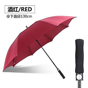 HAN-NMC Macho tres paracaídas automático PARAGUAS paraguas de Golf,D