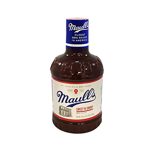 Maull's Sweet'N Smoky Barbecue Sauce, 42 Ounce Bottle, St Louis Style BBQ Sauce, Oldest Sauce in America