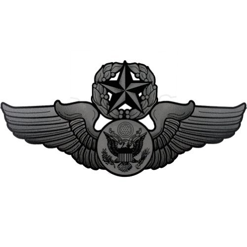 U.S. Air Force Chief Enlisted Aircrew Badge Clear Decal