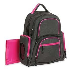 Carter's Sport Back Pack Diaper Bag, Grey/Pink
