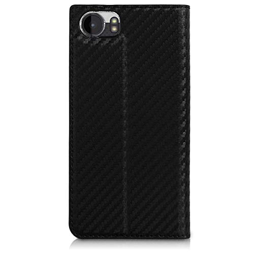 6de850cedbba kwmobile Flip Case for BlackBerry KEYone (Key1) - PU Leather Wallet Folio  Cover with Card Slot, Stand Feature - Black