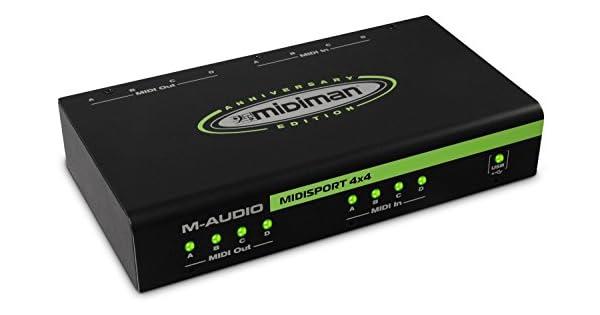 Amazon.com: M-Audio midisport 4 x 4 Anniversary Edition | 4 ...