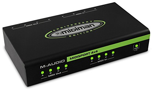 M-Audio MIDISPORT 4×4 Anniversary Edition | 4-in/4-out MIDI Interface (64×64 discrete channels I/O via USB)