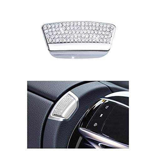 1797 Compatible W213 S213 E Class Armrest Box Switch Caps Mercedes Benz Accessories Parts Bling Covers Decals Sticker Interior Inside Front Middle Decorations AMG 2017 2018 Women Men Crystal ()