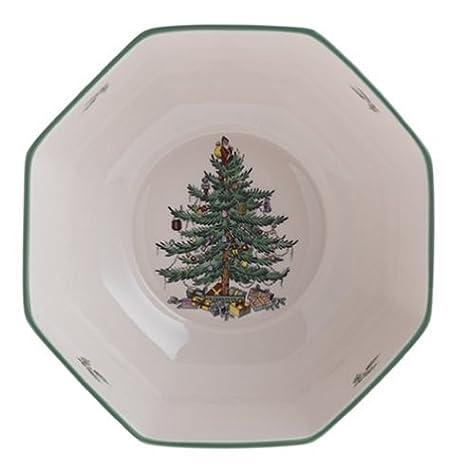Spode Christmas Plates.Spode Christmas Tree Octagonal Bowl Medium