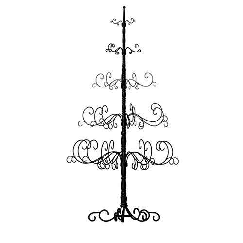 7-Foot Christmas Tree, 41 by 84 Inch, Black