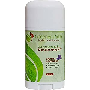 All Natural Deodorant for Women and Men by Greener Path | Lavender Scent 2.65 Oz | Non-Toxic Aluminum Free Deodorant | Made in USA | Paraben Free & Non-GMO | Natural & Organic Deodorant for Women